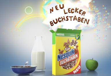 "Nesquik ""Buchstaben"" Tag-On"